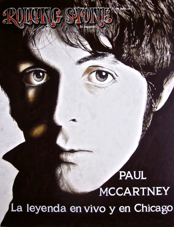 A colored pencil drawing of Sir Paul by Martin M. Rocha
