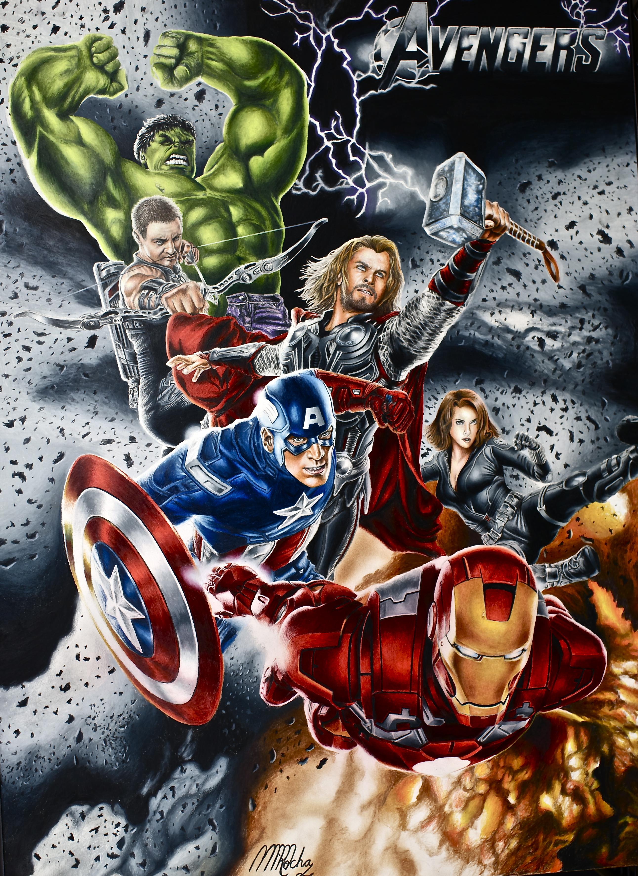 Superhero art martinmrochaart - Poster super heros ...