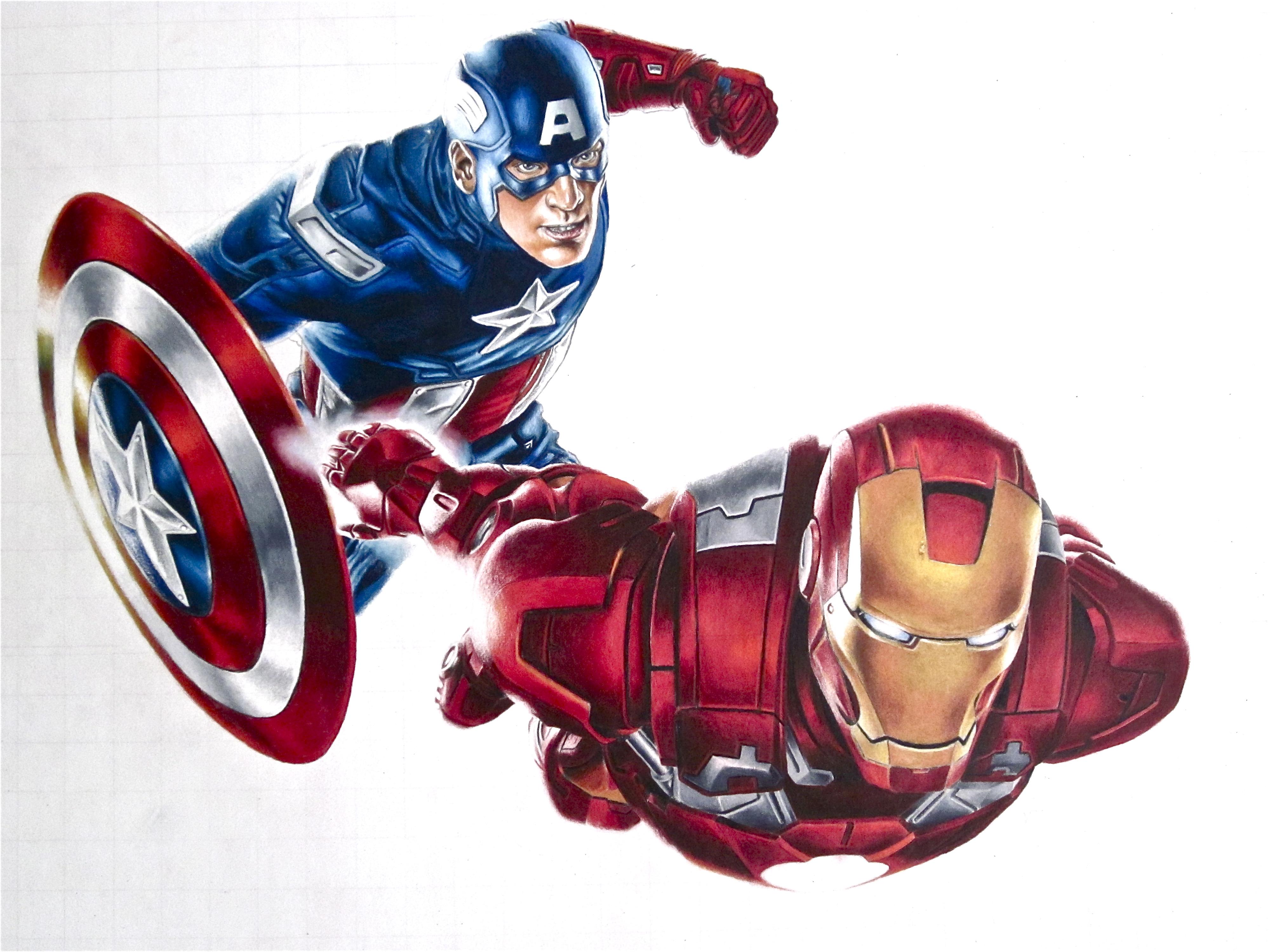 Captain America Shield Drawing: AVENGERS ART ASSEMBLE By Martin M. Rocha