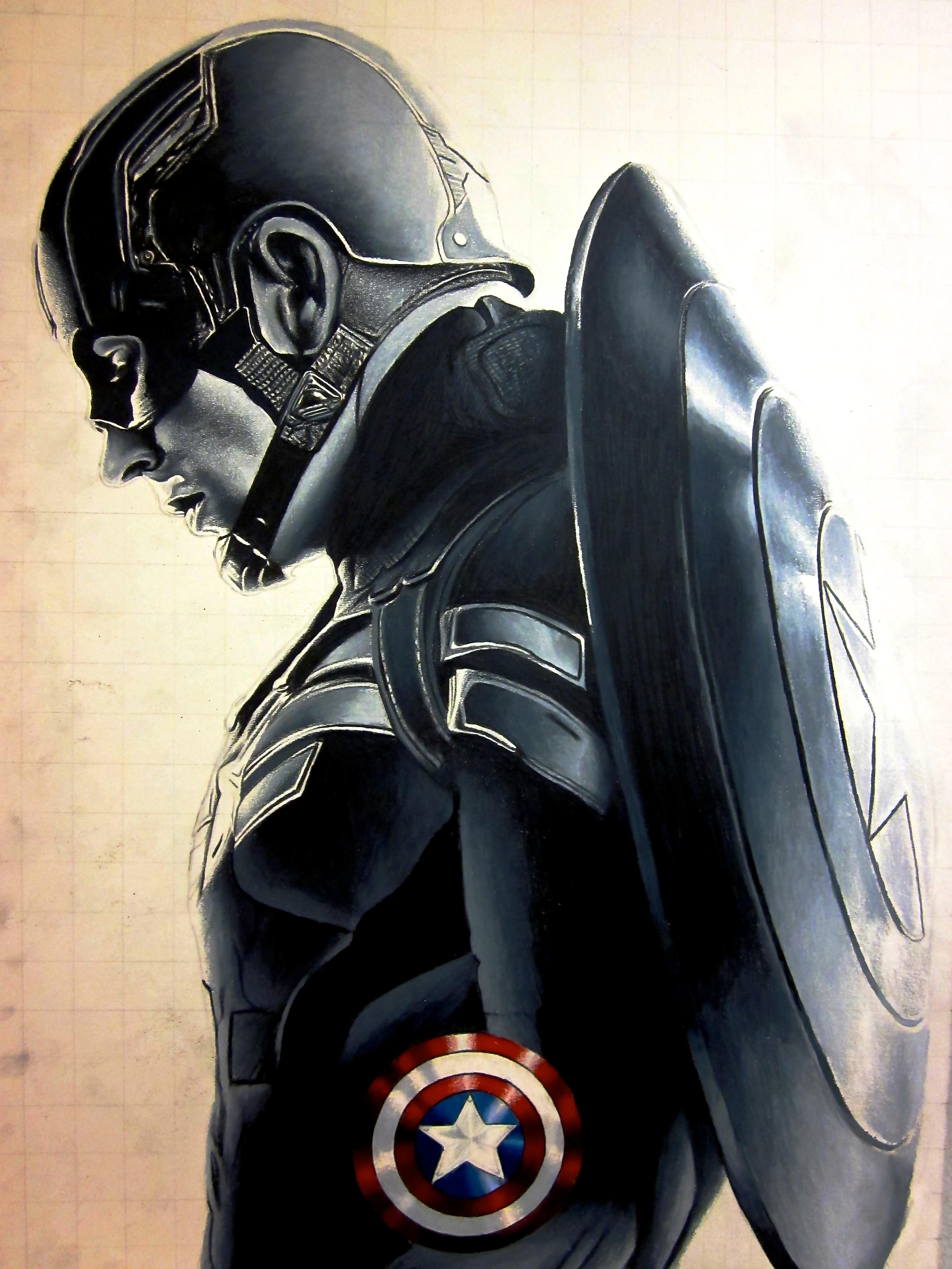 Capit n am rica soldado del invierno arte martinmrochaart for Captain america
