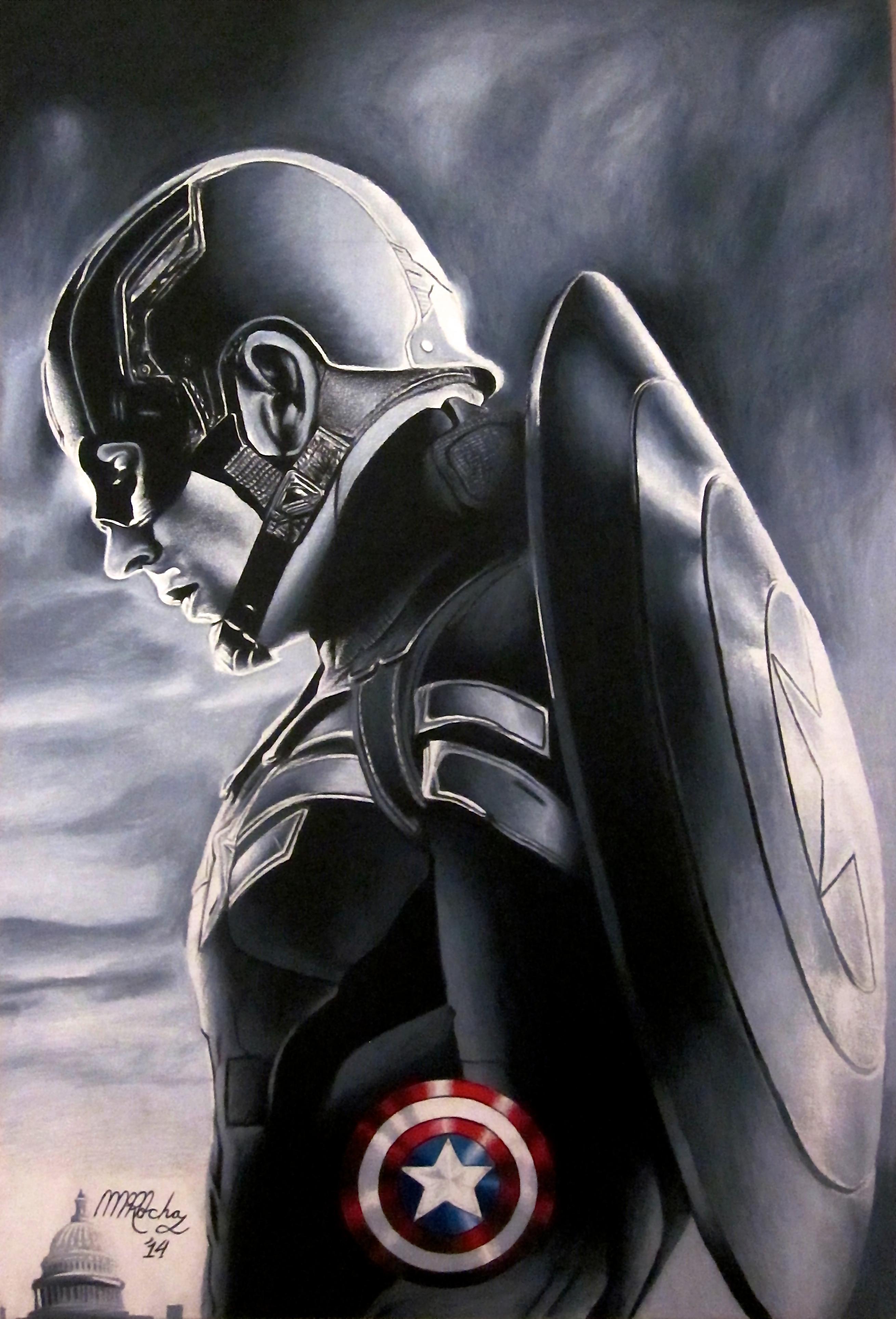 Captain America Art | martinmrochaart