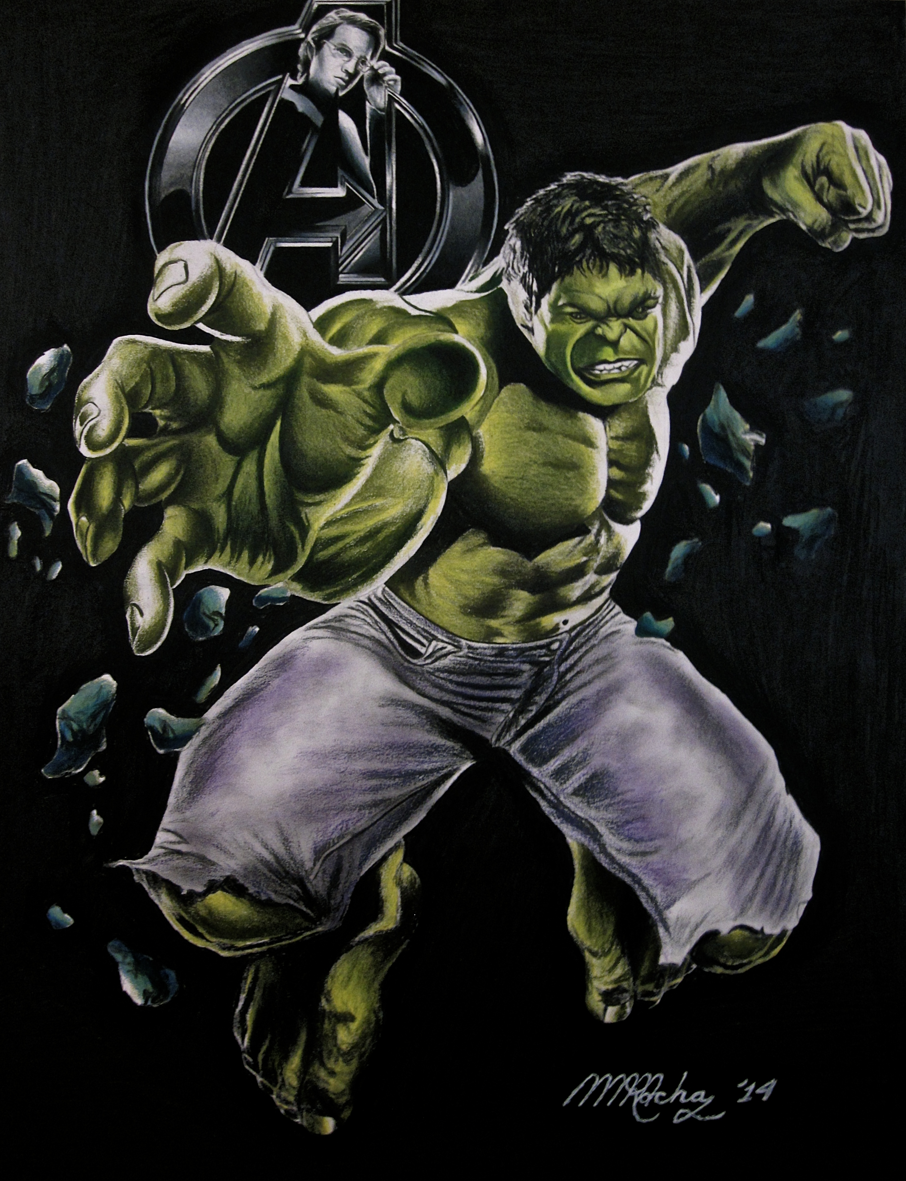 Hulk Drawing Martinmrochaart